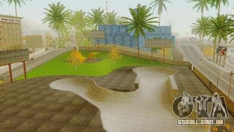A textura, o Parque de skate e um hospital em Lo para GTA San Andreas quinto tela