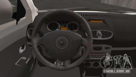 Renault Symbol 2009 para GTA San Andreas traseira esquerda vista