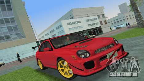 Subaru Impreza WRX 2002 Type 4 para GTA Vice City deixou vista