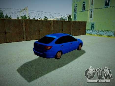 Lada Granta Liftback para GTA San Andreas traseira esquerda vista