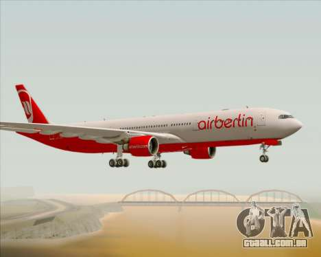 Airbus A330-300 Air Berlin para GTA San Andreas vista direita