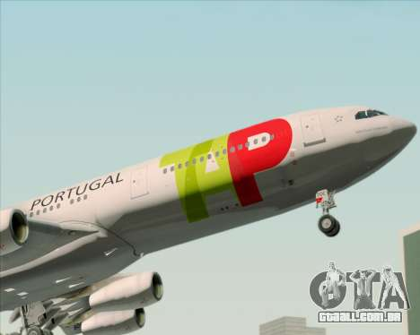 Airbus A340-312 TAP Portugal para as rodas de GTA San Andreas