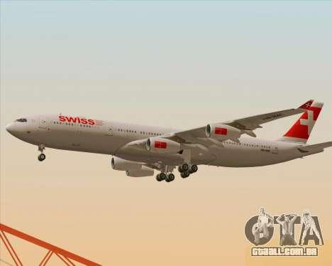 Airbus A340-313 Swiss International Airlines para GTA San Andreas interior