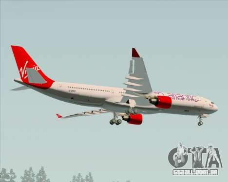 Airbus A330-300 Virgin Atlantic Airways para GTA San Andreas vista interior