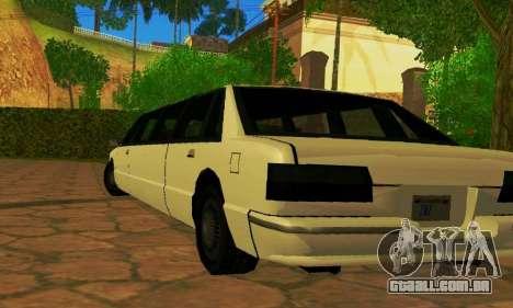 Premier Limousine para GTA San Andreas traseira esquerda vista