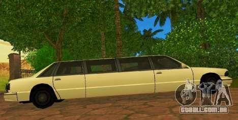 Premier Limousine para GTA San Andreas esquerda vista