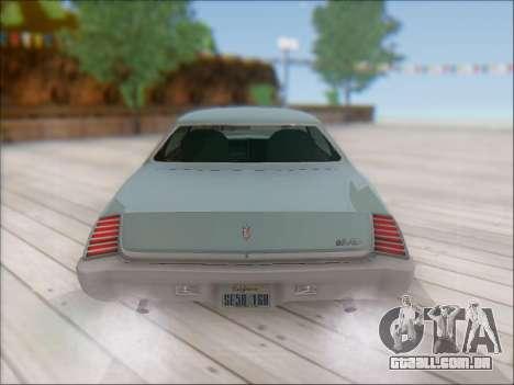 Chevrolet Monte Carlo 1973 para GTA San Andreas vista traseira