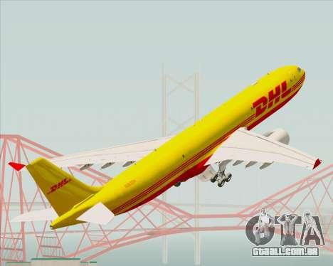 Airbus A330-300P2F DHL para as rodas de GTA San Andreas
