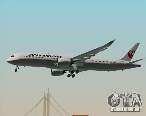 Airbus A350-941 Japan Airlines para as rodas de GTA San Andreas