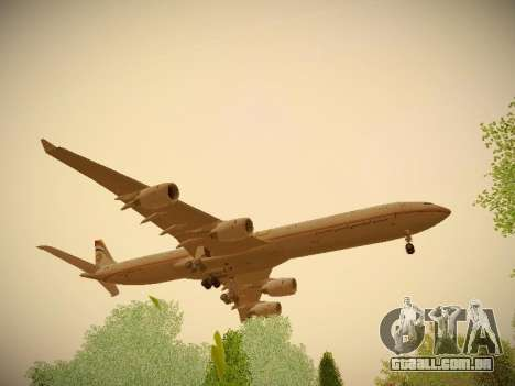 Airbus A340-600 Etihad Airways para GTA San Andreas vista traseira