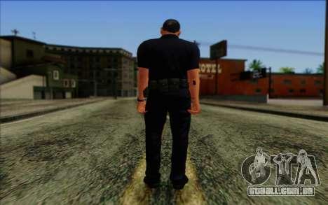 Polícia (GTA 5) Pele 4 para GTA San Andreas segunda tela