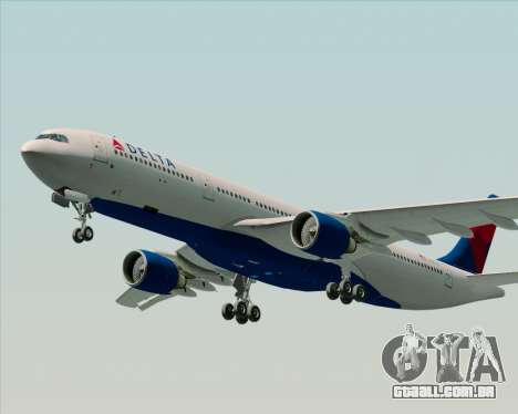 Airbus A330-300 Delta Airlines para GTA San Andreas vista superior