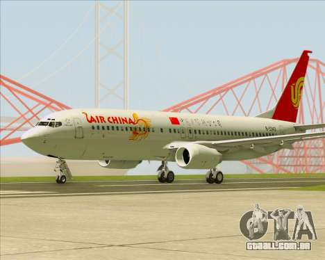 Boeing 737-89L Air China para GTA San Andreas vista direita