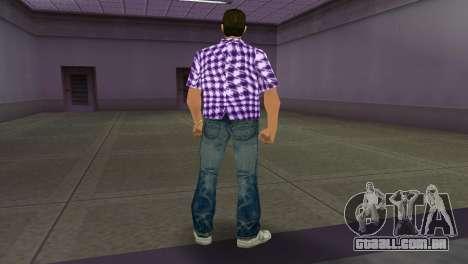 Kockas polo - lila T-Shirt para GTA Vice City terceira tela