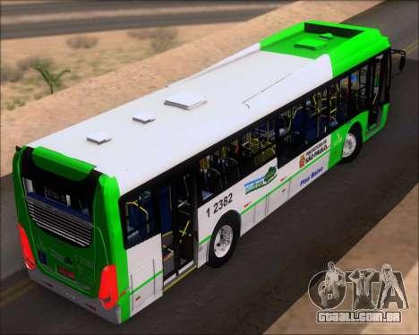 Caio Induscar Millennium BRT Viacao Gato Preto para GTA San Andreas vista traseira