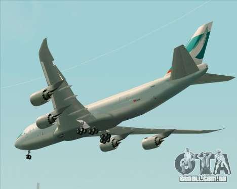 Boeing 747-8 Cargo Cathay Pacific Cargo para GTA San Andreas vista traseira