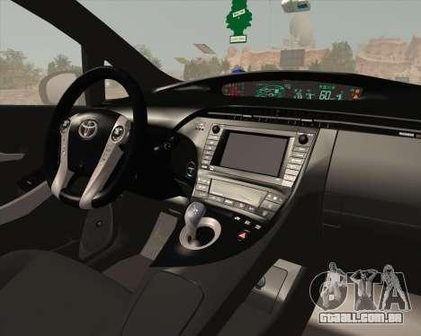 Toyota Prius para GTA San Andreas interior