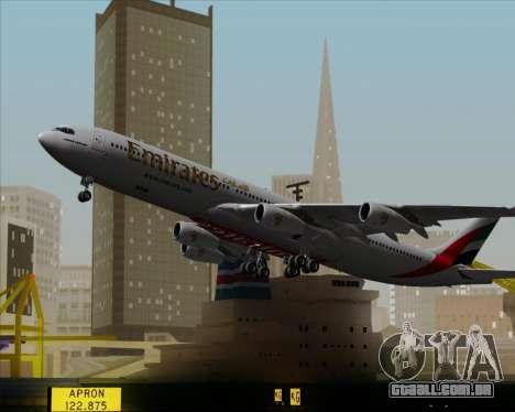 Airbus A340-313 Emirates para GTA San Andreas vista superior