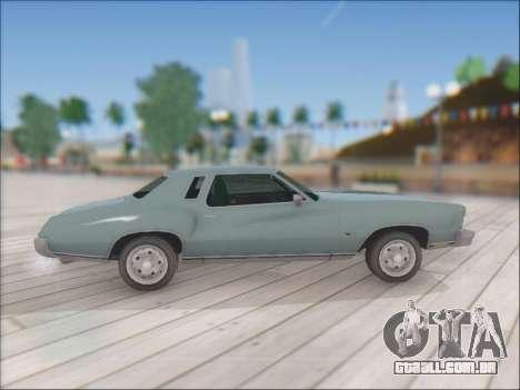Chevrolet Monte Carlo 1973 para GTA San Andreas vista direita