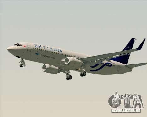 Boeing 737-86N Garuda Indonesia para vista lateral GTA San Andreas