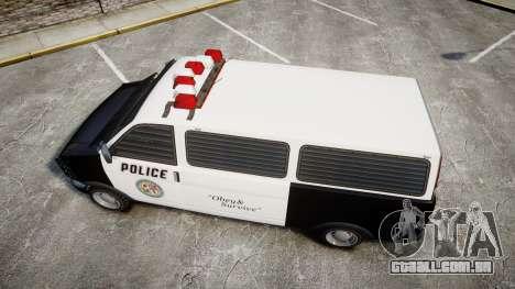 Declasse Burrito Police para GTA 4 vista direita