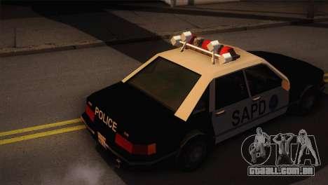 GTA 3 Police Car para GTA San Andreas traseira esquerda vista
