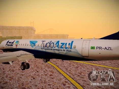 Embraer E190 Azul Tudo Azul para GTA San Andreas interior