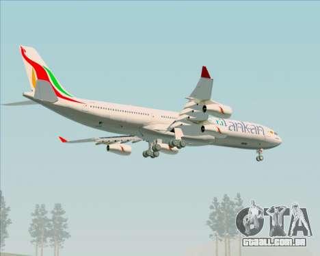 Airbus A340-313 SriLankan Airlines para as rodas de GTA San Andreas