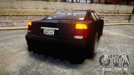 Bravado Buffalo FIB Modified para GTA 4 traseira esquerda vista