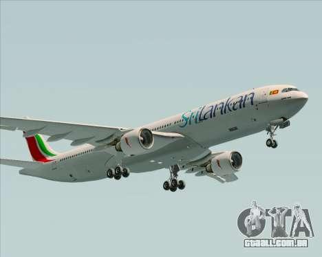 Airbus A330-300 SriLankan Airlines para GTA San Andreas vista interior