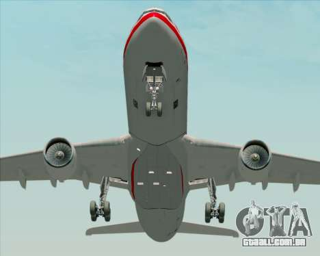 Airbus A330-300 LTU International para GTA San Andreas vista interior