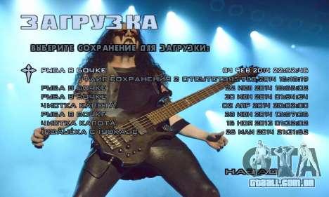 Metal Menu - Immortal (Live) para GTA San Andreas segunda tela