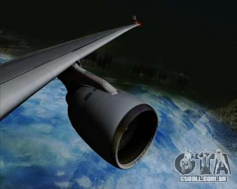Airbus A330-300 Cathay Pacific para GTA San Andreas vista inferior