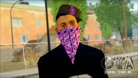 East Side Ballas Skin 2 para GTA San Andreas terceira tela