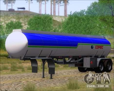 Tanque de reboque Carro Copec para GTA San Andreas vista direita