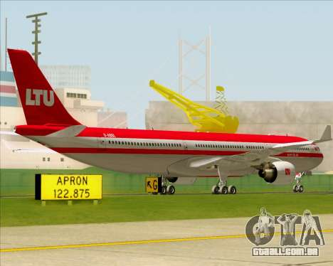 Airbus A330-300 LTU International para GTA San Andreas vista traseira
