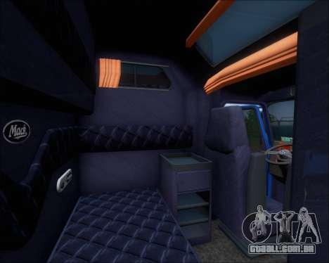 Mack Pinnacle 2006 para GTA San Andreas interior