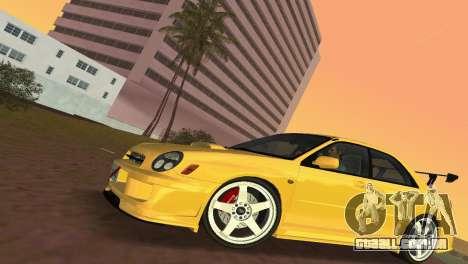 Subaru Impreza WRX 2002 Type 5 para GTA Vice City vista traseira esquerda