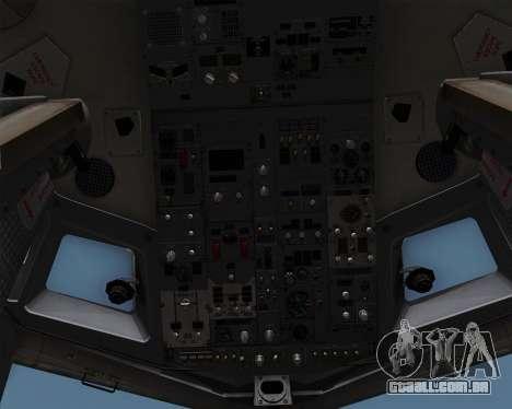 Boeing 737-86N Garuda Indonesia para GTA San Andreas vista inferior