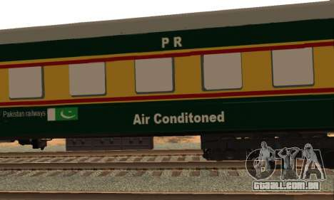 Pakistan Railways Train para GTA San Andreas vista interior