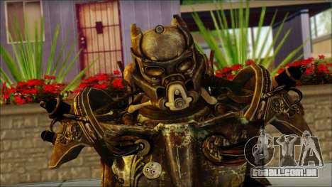Enclave Tesla Soldier from Fallout 3 para GTA San Andreas terceira tela