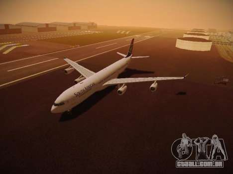 Airbus A340-300 South African Airways para GTA San Andreas interior