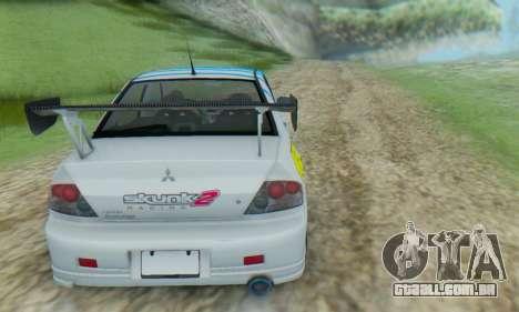 Mitsubishi Lancer Turkis Drift Aem para GTA San Andreas vista direita