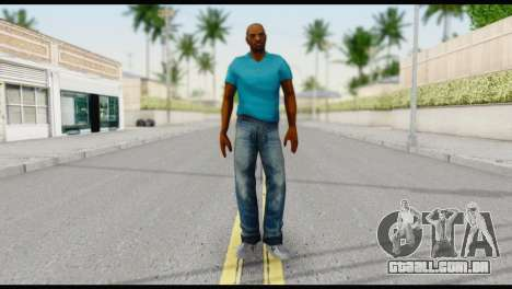 Blue Shirt Vic para GTA San Andreas