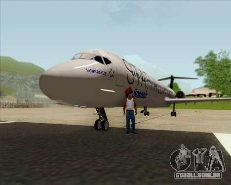 McDonnell Douglas MD-82 Spanair para GTA San Andreas vista interior