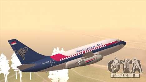 Indonesian Plane Sriwijaya Air para GTA San Andreas esquerda vista