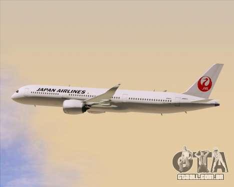 Airbus A350-941 Japan Airlines para GTA San Andreas vista superior