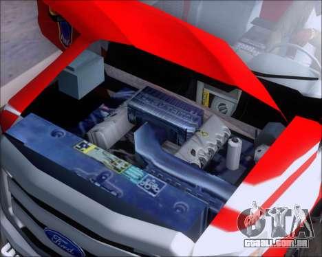 Ford F-350 Super Duty TFD Medic 1 para GTA San Andreas vista interior