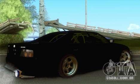 Toyota Chaser Drift 2JZ-GTE para GTA San Andreas esquerda vista