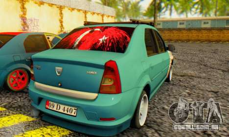 Dacia Logan 1.6 MPI Tuning para GTA San Andreas traseira esquerda vista